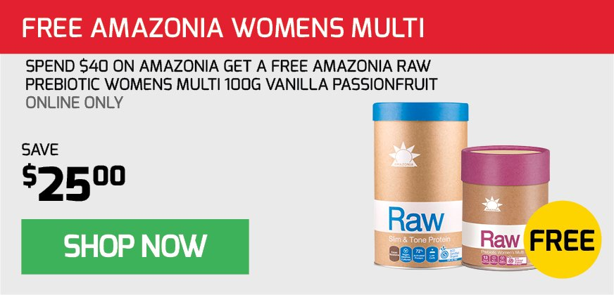 FREE Womens Multi with $40 Amazonia Spend