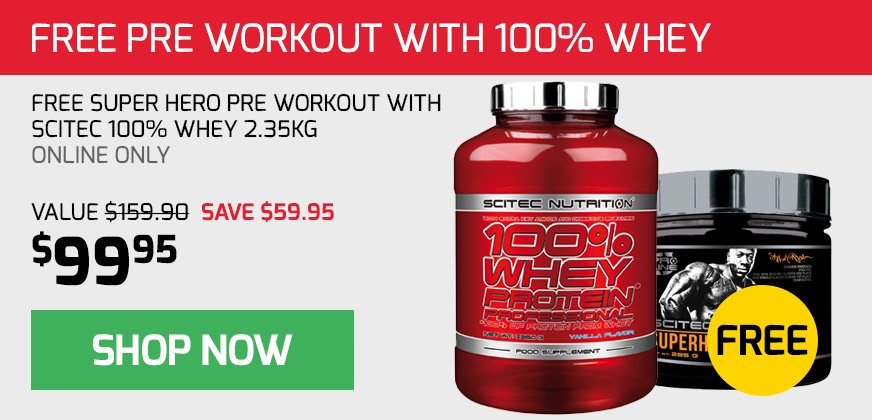 Free Pre Workout with Scitec Whey